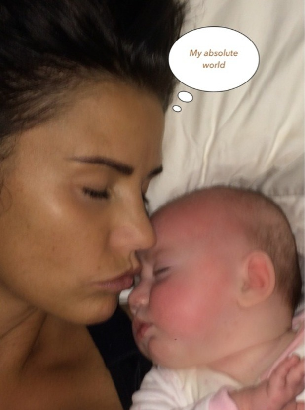 Katie Price shares cute selfie with daughter Bunny, 12 December 2014