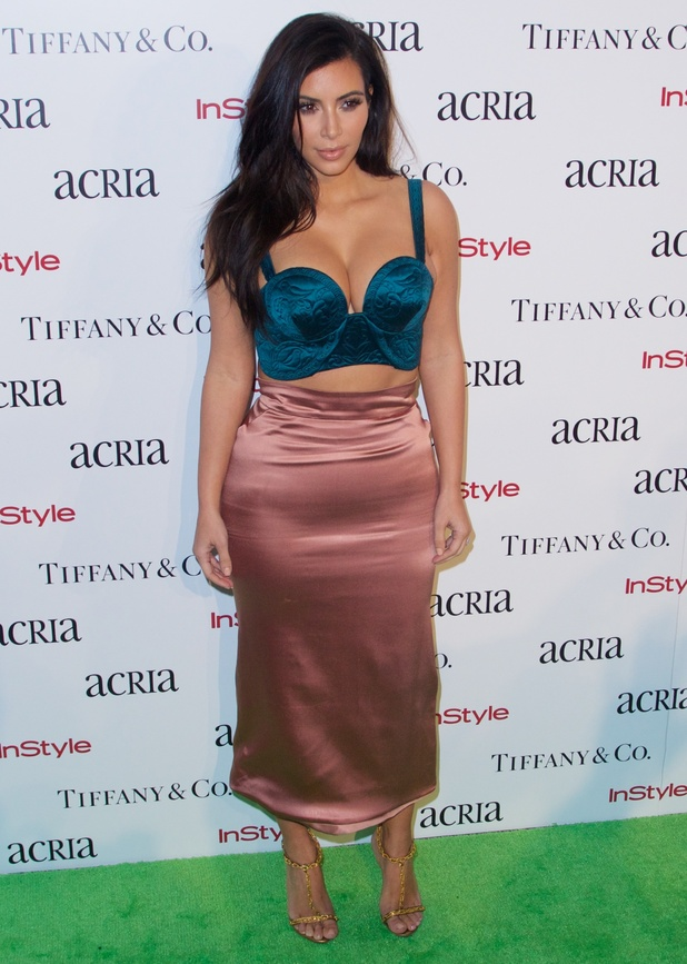 Kim Kardashian West attends the 19th Annual ACRIA Holiday Dinner in New York, America - 10 December 2014