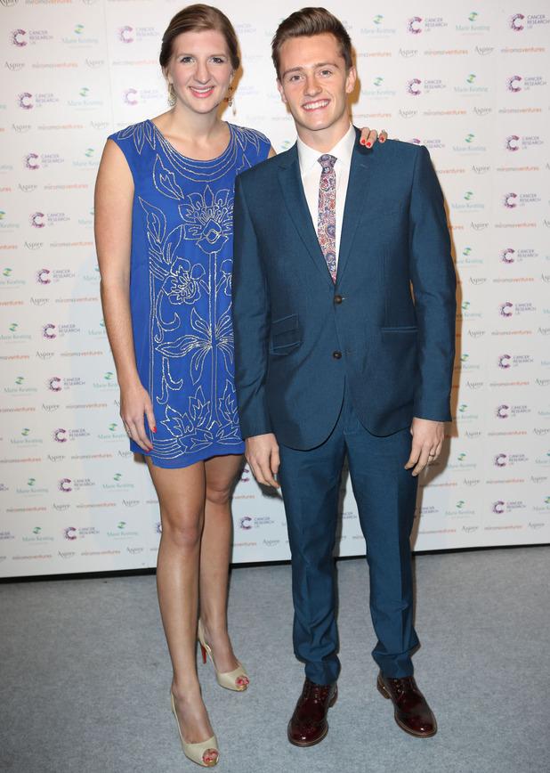 Pregnant Rebecca Adlington at the 9th Annual Emeralds & Ivy Ball, London - 6 Dec 2014