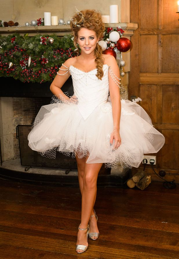 Lydia Bright dresses as a fairy while filming The Only Way Is Essexmas in Kent - 30 November 2014