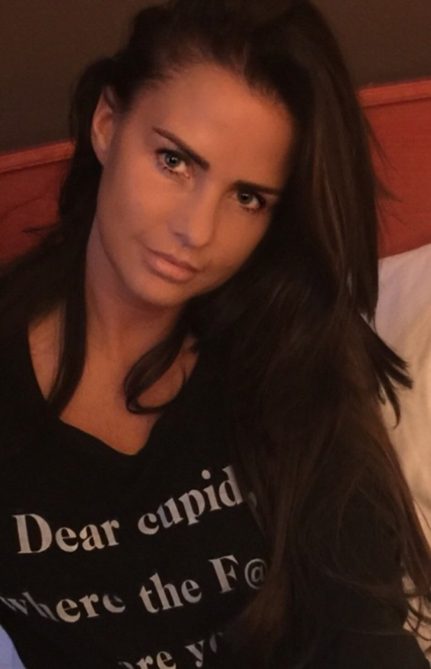 Katie Price shows off her new boobs after breast reduction - 7 Dec 2014