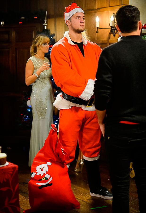 'The Only Way is Essex' cast filming at Lympne Castle, Kent, Britain - 30 Nov 2014 Dan Osborne dressed as Santa