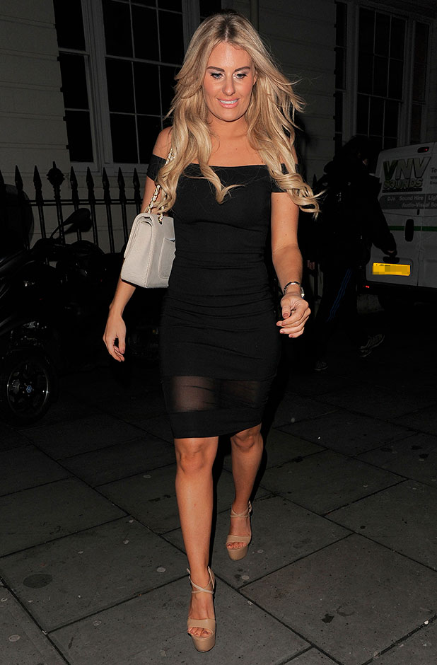 TOWIE Christmas party, London, Britain - 11 Dec 2014 Danielle Armstrong