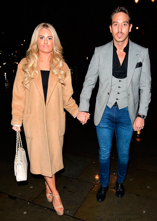 TOWIE Christmas party, London, Britain - 11 Dec 2014 Danielle Armstrong and James Locke