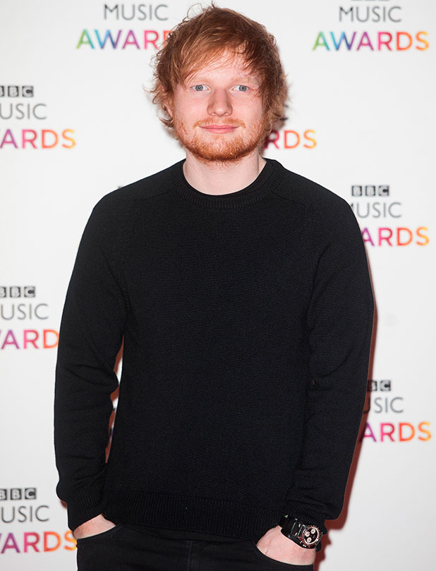 Ed Sheeran, BBC Music Awards held at the Earls Court Exhibition Centre, 11 December 2014