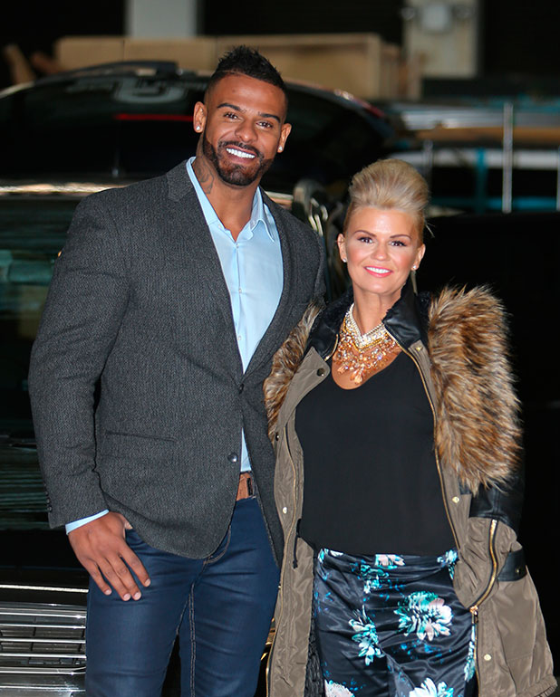 Kerry Katona and her husband George Kay outside the ITV Studios, 10 December 2014