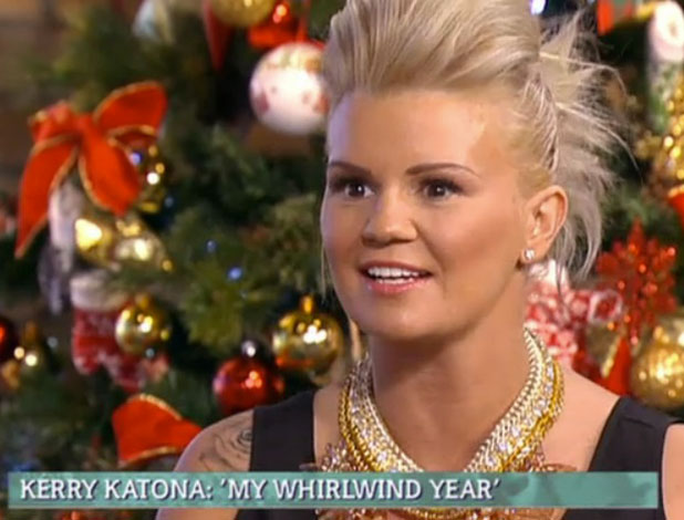 Kerry Katona appears on This Morning, ITV, 10 December 2014