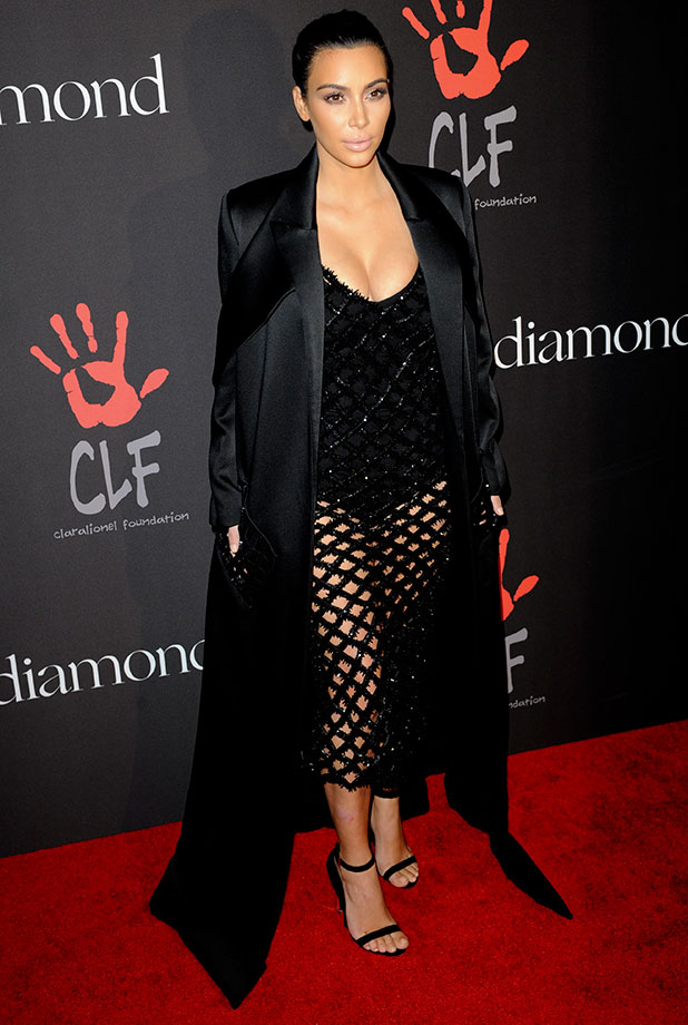 Kim Kardashian attends Rihanna and The Clara Lionel Foundation Presents The Inaugural Diamond Ball, 11 December 2014