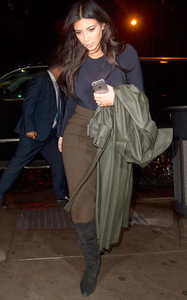 Kim Kardashian out and about, New York, America - 09 Dec 2014