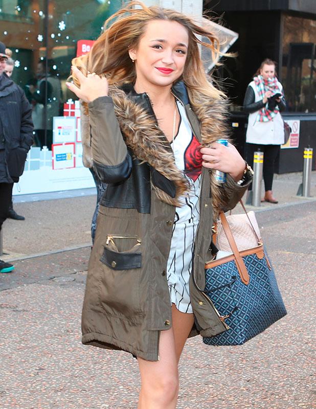Lauren Platt outside the ITV studios, London, 8 December 2014