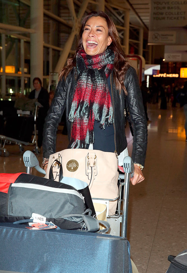 'I'm A Celebrity...Get Me Out Of Here!' contestant Mel Sykes arrives at Heathrow Airport, London, Britain - 10 Dec 2014