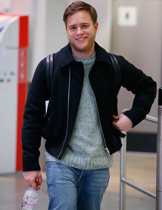 Olly Murs arriving at Tegel Airport, 12 December 2014