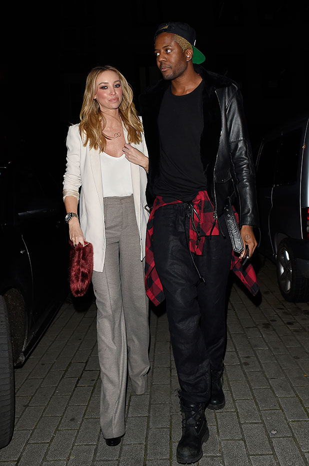 Lauren Pope and Vas J Morgan attend the Glam Rock Christmas party to celebrate the collaboration between House of Hackney and Terry De Havilland at The Scotch of St James on December 11, 2014 in London, England.