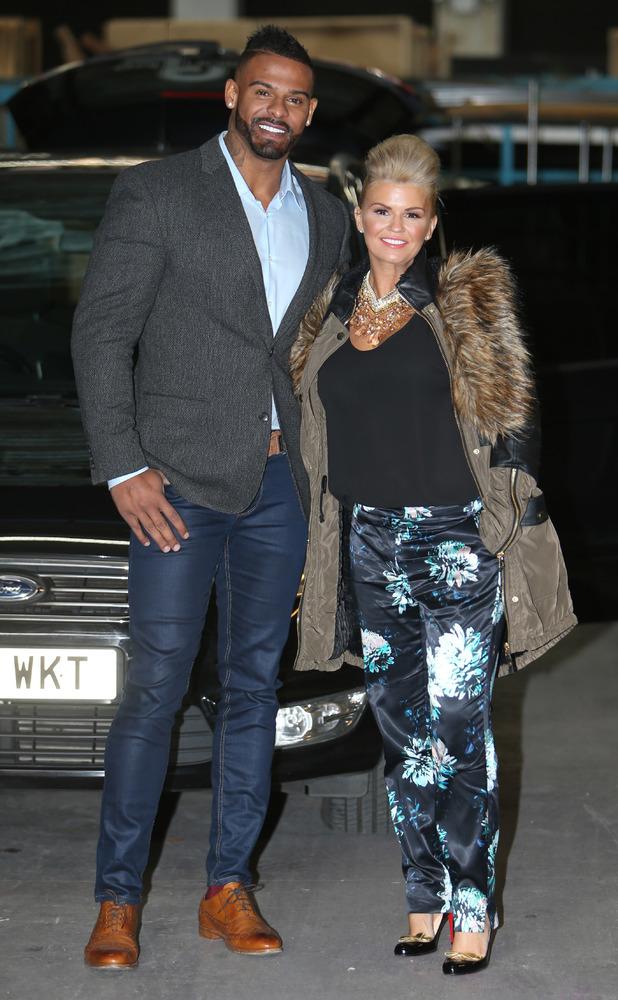 Kerry Katona and her husband George Kay outside the ITV Studios 12/10/2014