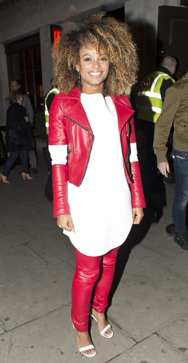 Fleur East attends The X Factor wrap party at Press Nightclub in London, England - 16 December 2014