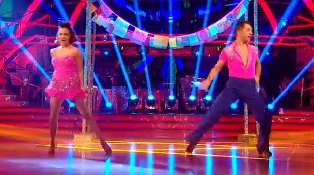 Caroline Flack performs Salsa, Strictly Come Dancing 14 December