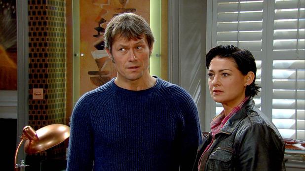 Emmerdale, Moira and James confront Lawrence, Fri 19 Dec