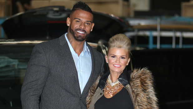 Kerry Katona and her husband George Kay outside the ITV Studios 12/10/2014