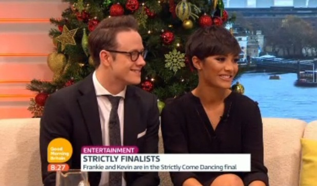 Frankie Bridge and Kevin Clifton on Good Morning Britain, ITV 17 December