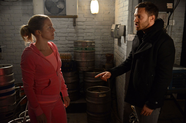 EastEnders, Dean threatens Linda, Wed 24 Dec
