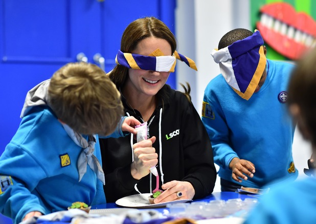 Catherine, Duchess of Cambridge, Visits 23rd Poplar Beaver Scout Colony - 16 Dec 2014