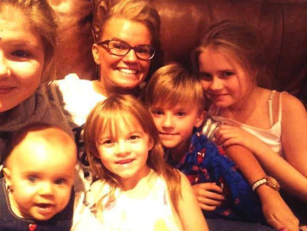 Kerry Katona Twitter picture 'I love my little brood' kids