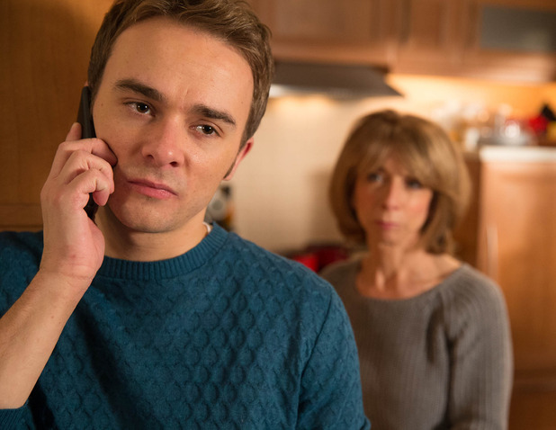 Corrie, David calls the police, Mon 5 Jan