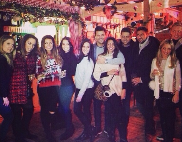 Mark Wright joins Michelle Keegan and Jessica Wright at Winter Wonderland 14 December