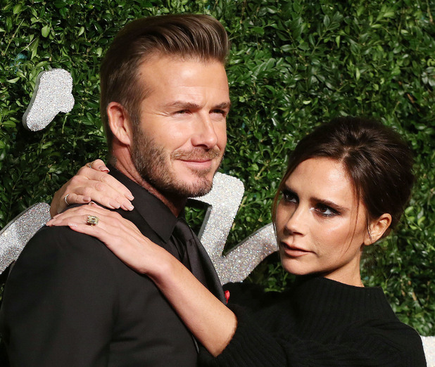 David and Victoria Beckham, The British Fashion Awards 2014 held at London Coliseum - Arrivals, 1 December 2014