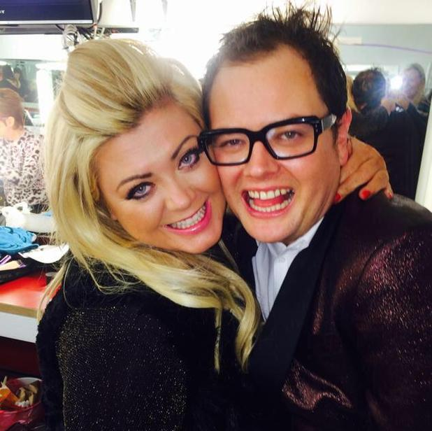 Gemma Collins with Alan Carr after appearing on Chatty Man - 15 December 2014.