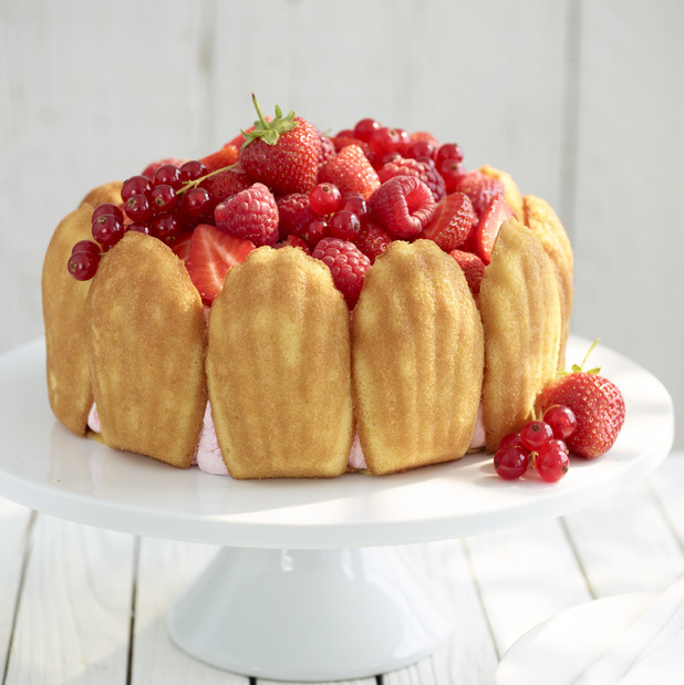 Bonne Maman strawberry Charlotte cake