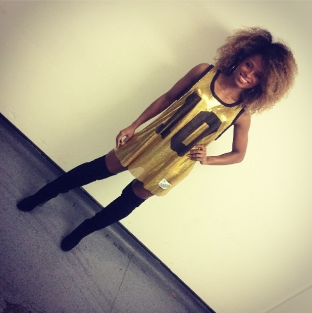 Fleur East prepares to perform on The X Factor at Wembley Arena - 13 December 2014