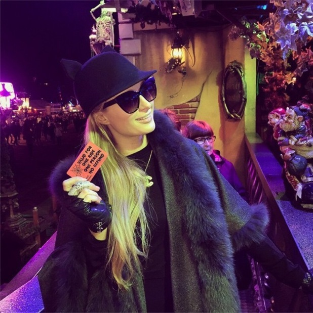 Paris Hilton visits Hyde Park's Winter Wonderland in London, England - 16 December 2014