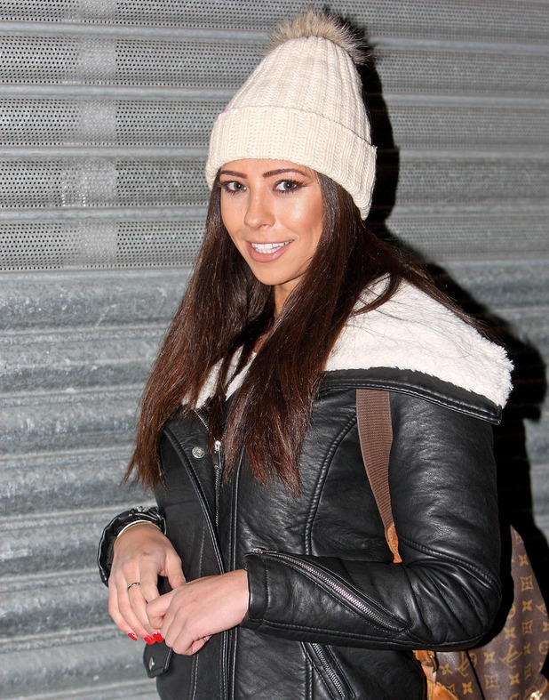 Ex TOWIE star Pascal Craymer on her way to Winter Wonderland in London - 15 Dec 2014
