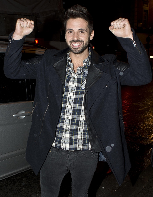 Ben Haenow at X Factor wrap party in London - 16 December 2014.