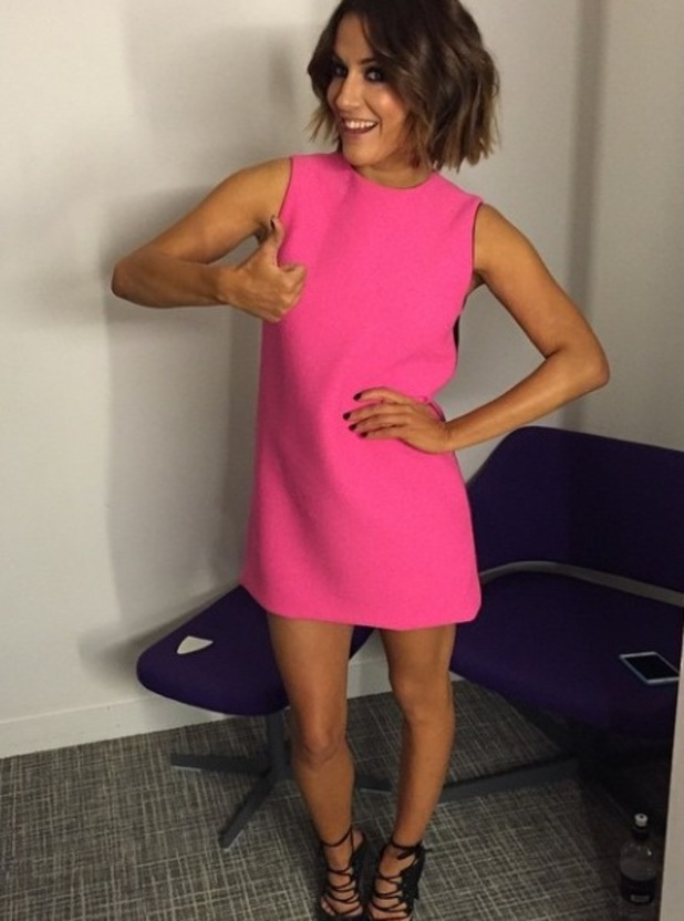Strictly Come Dancing: Caroline Flack on It Takes Two. 15 December 2014.