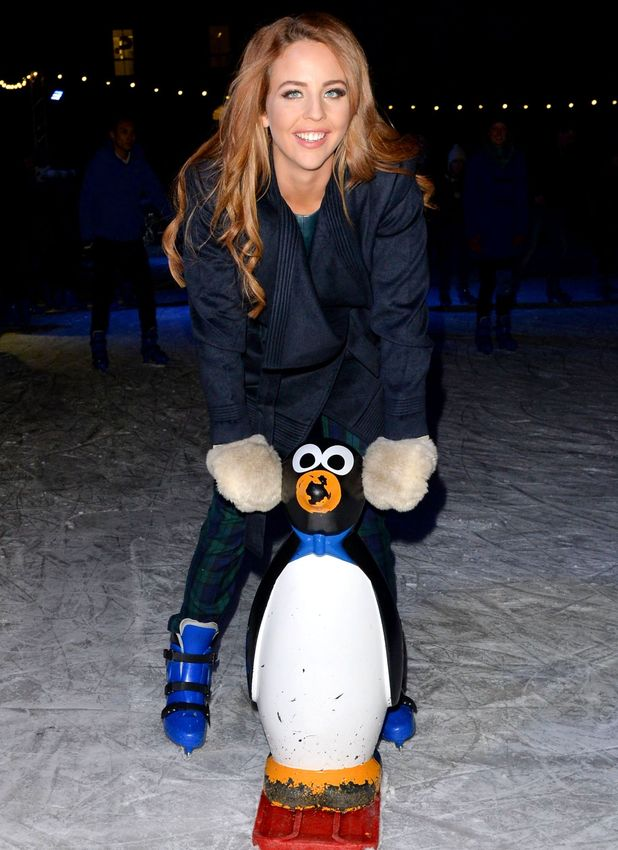 TOWIE's Lydia Bright goes ice skating with mum Debbie, new foster sister and rest of family, 19 December 2014