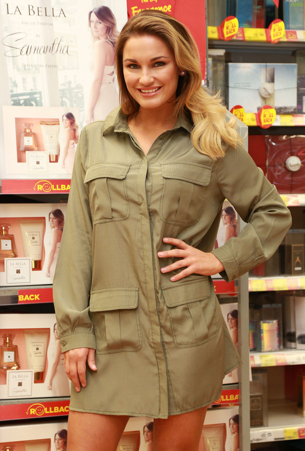 Sam Faiers promotes her perfume gift set at ASDA in Leeds, England - 12 December 2014