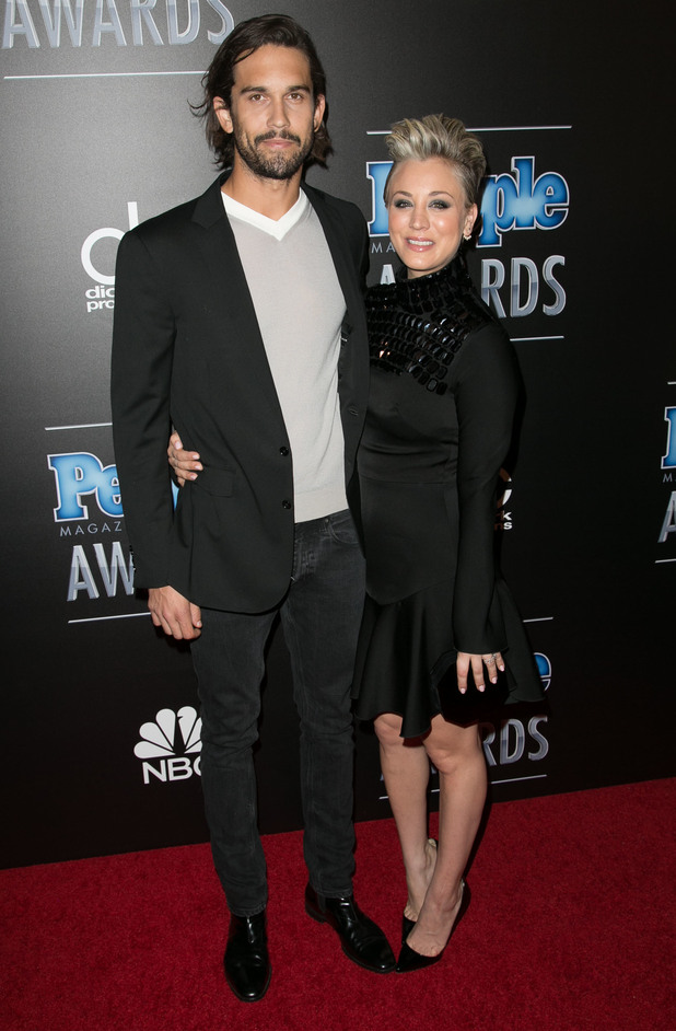 Kaley Cuoco-Sweeting and Ryan Sweeting attend the People Magazine Awards in Los Angeles, America - 18 December 2014