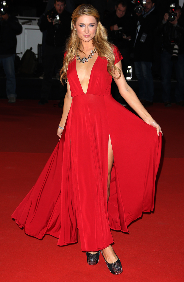 Paris Hilton attends the NRJ Music Awards in Cannes, France - 13 December 2014