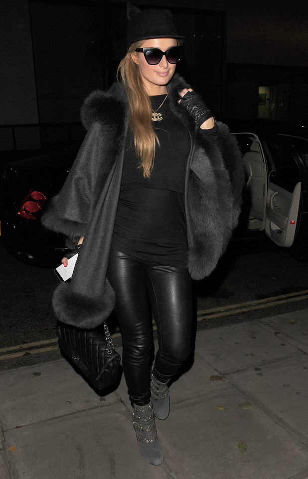 Paris Hilton steps out in London after visiting Hyde Park's Winter Wonderland - 16 December 2014