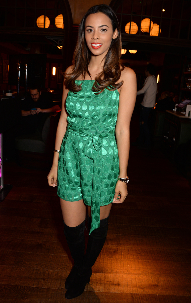 Rochelle Humes attends the LOVE Magazine x Balmain Christmas party in London, England - 15 December 2014