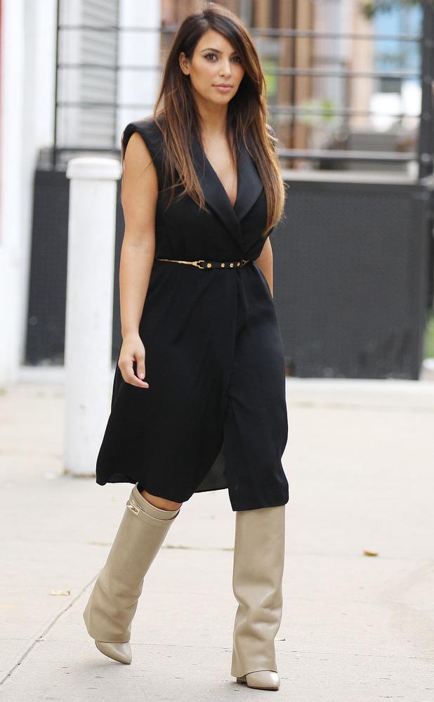 Kim Kardashian West heads out in New York, America - 2 September 2012