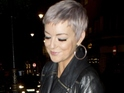 Sheridan Smith shows off her new silver pixie crop hairdo while arriving at Groucho Club in London - 17 December 2014