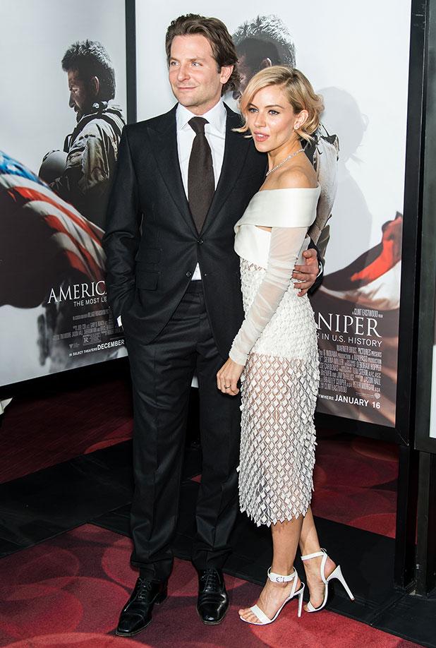 Bradley Cooper and Sienna Miller at American Sniper's New York premiere, 15 December 2014