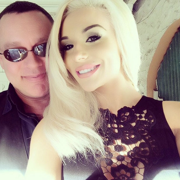 Courtney Stodden poses with husband Doug Hutchison, 2014
