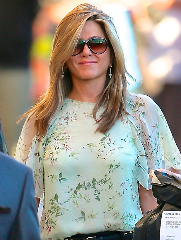 Jennifer Aniston at ABC studios for late-night talk show 'Jimmy Kimmel Live!' November 2014