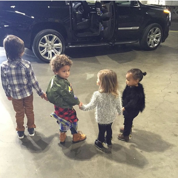 Kim Kardashian shares photo of North, Mason, Penelope and a family friend at Disney On Ice, 14 December 2014