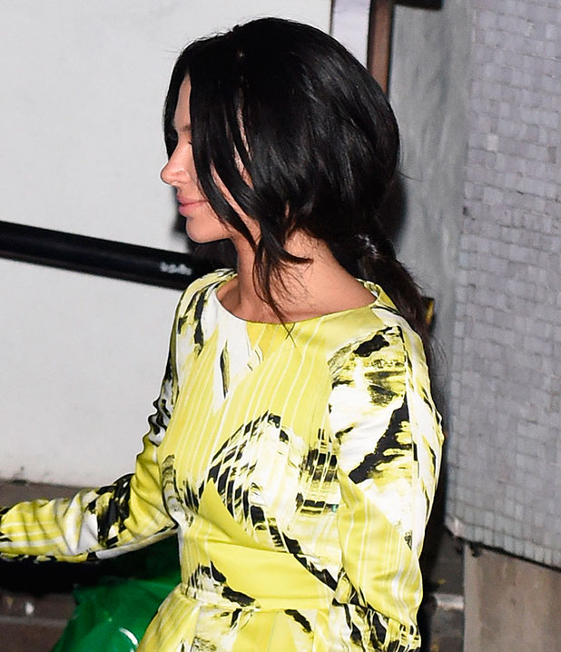 Tulisa leaving the ITV studios after filming the Alan Carr New Years Eve special, 16 December 2014