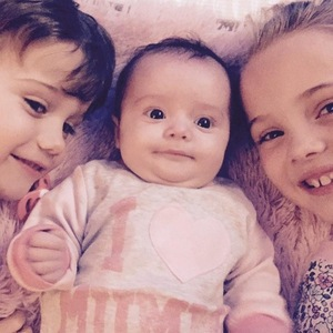 Sam Bailey's children Tommy, Brooke, Miley